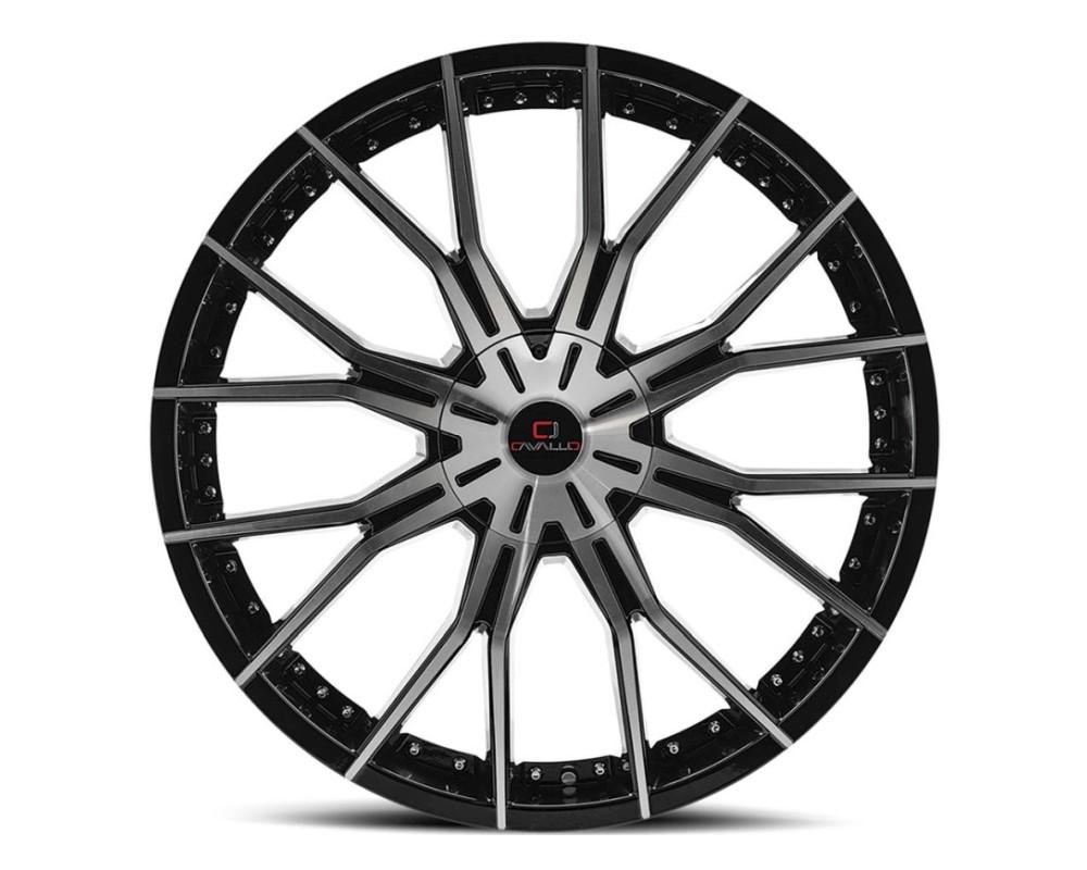 Cavallo CLV-36 Wheel 20x8.5 5x108|5x114.3 35mm Gloss Black Machined