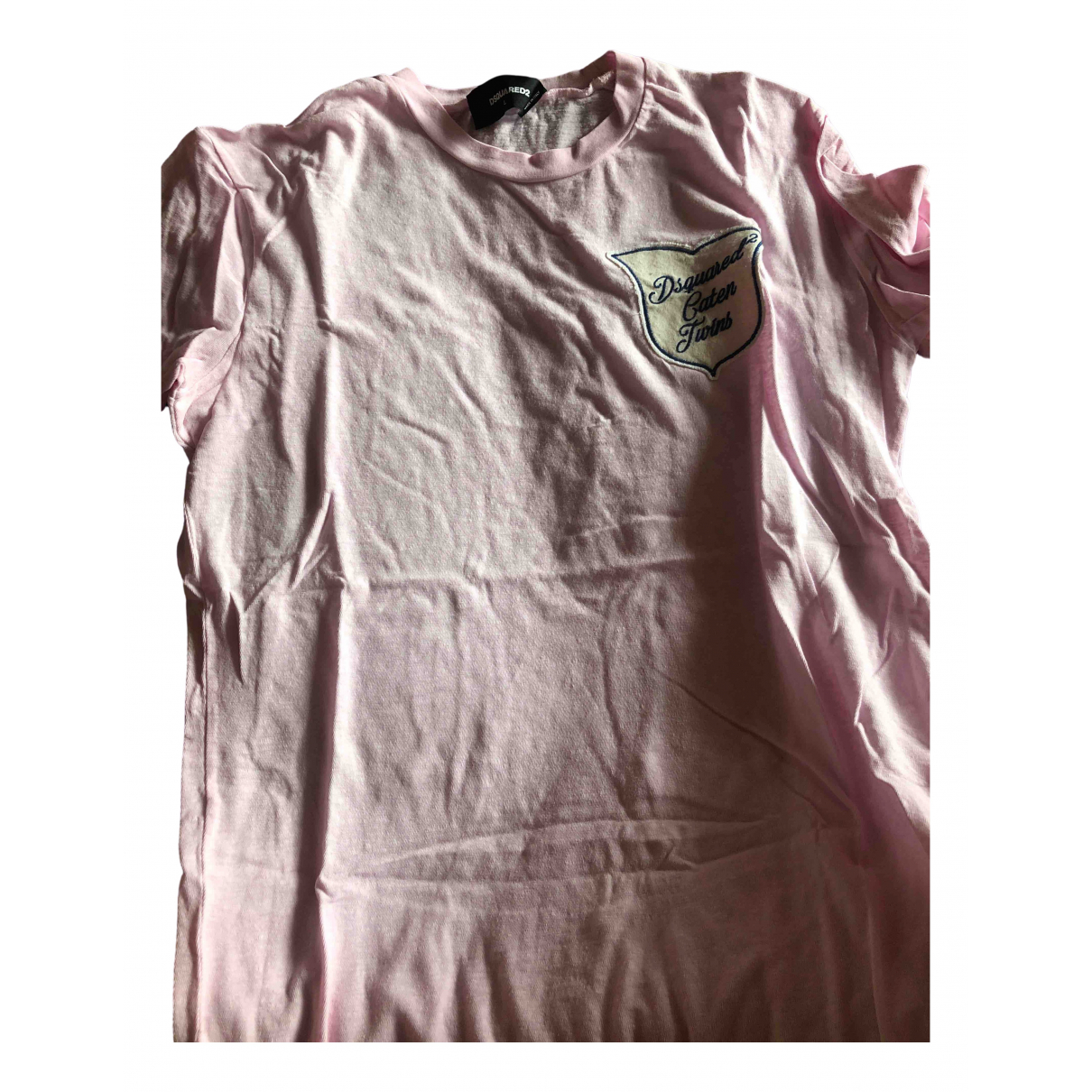 Dsquared2 \N Pink Cotton T-shirts for Men L International