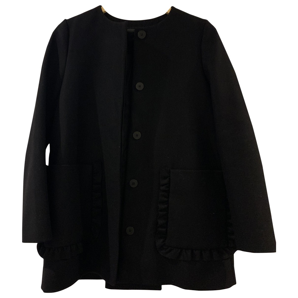 Cos \N Black Wool coat for Women 36 FR