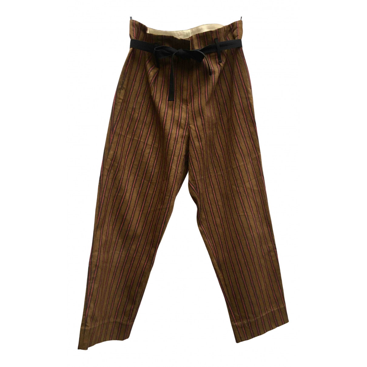 Forte_forte \N Brown Cotton Trousers for Women 1 0-5