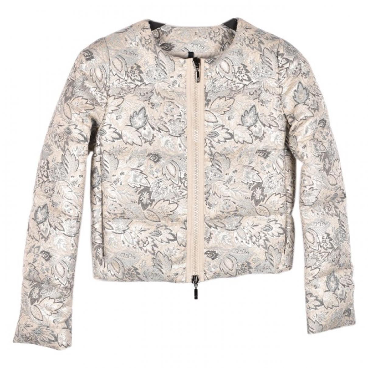 Moncler - Manteau Print pour femme - argente