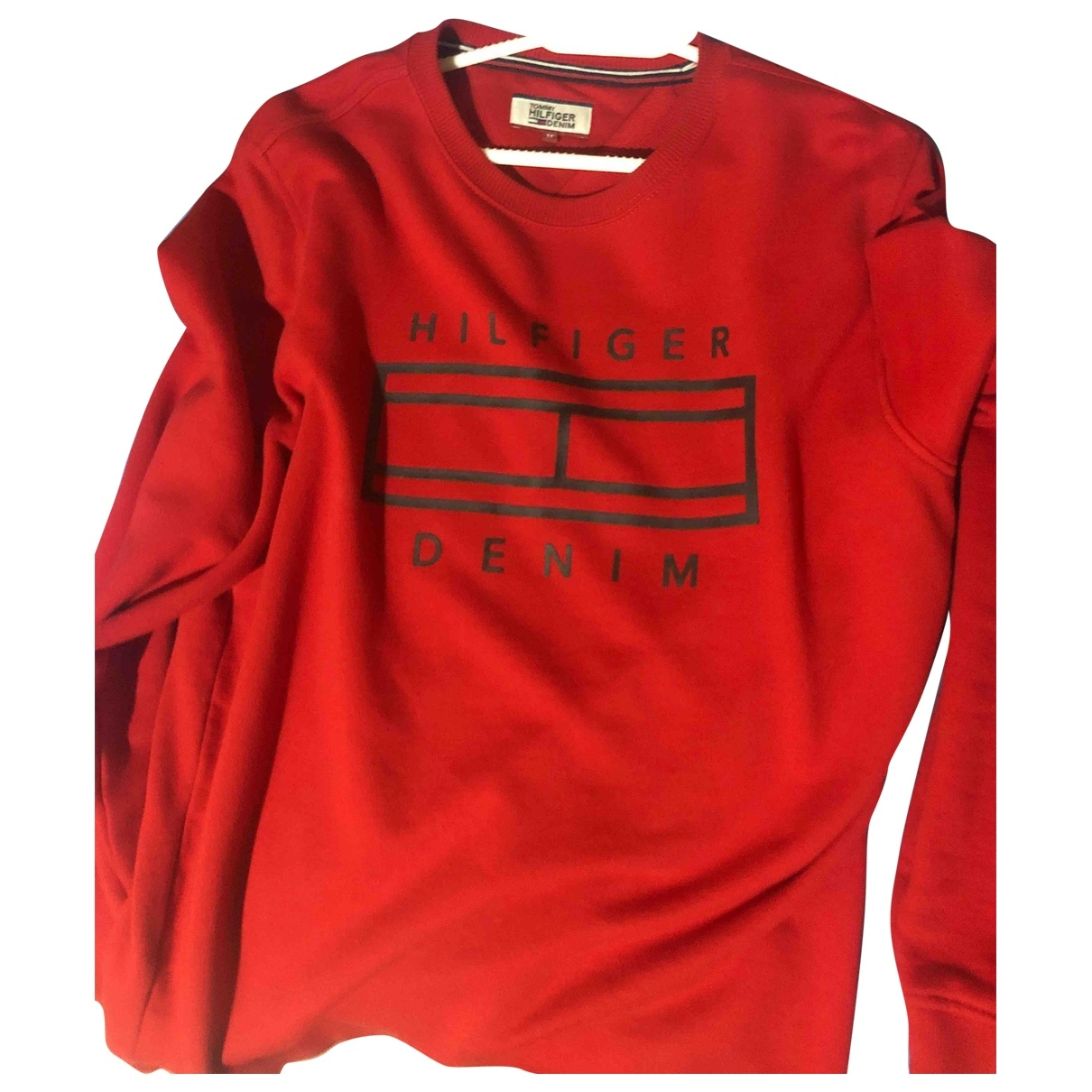 Tommy Hilfiger \N Pullover.Westen.Sweatshirts  in  Rot Baumwolle