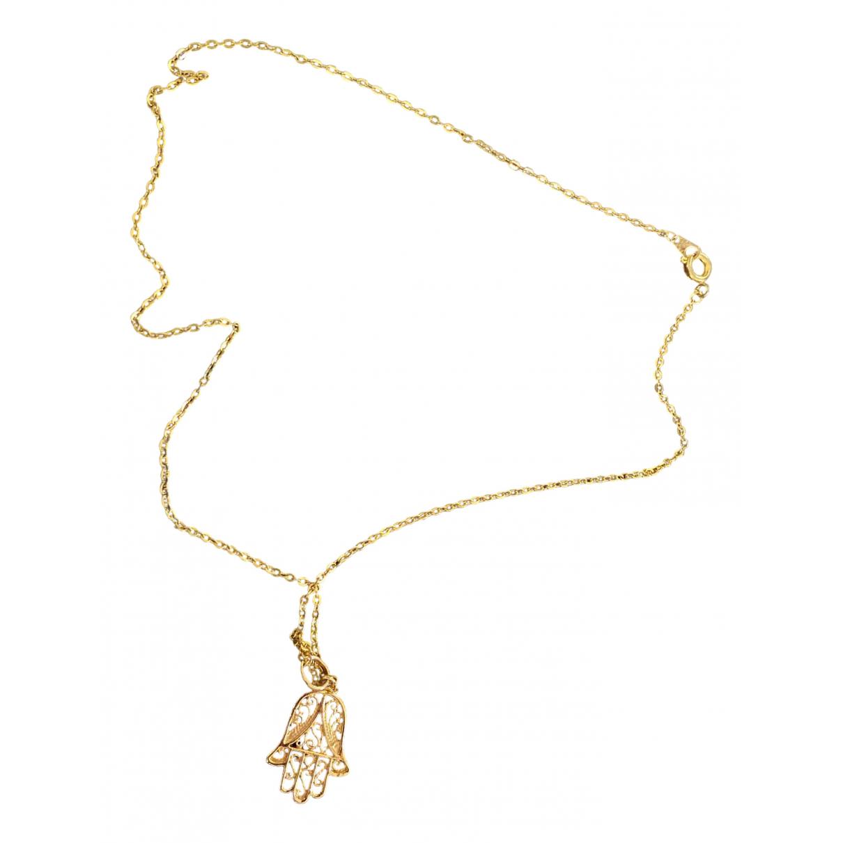 - Collier Motifs Religieux pour femme en or jaune - dore
