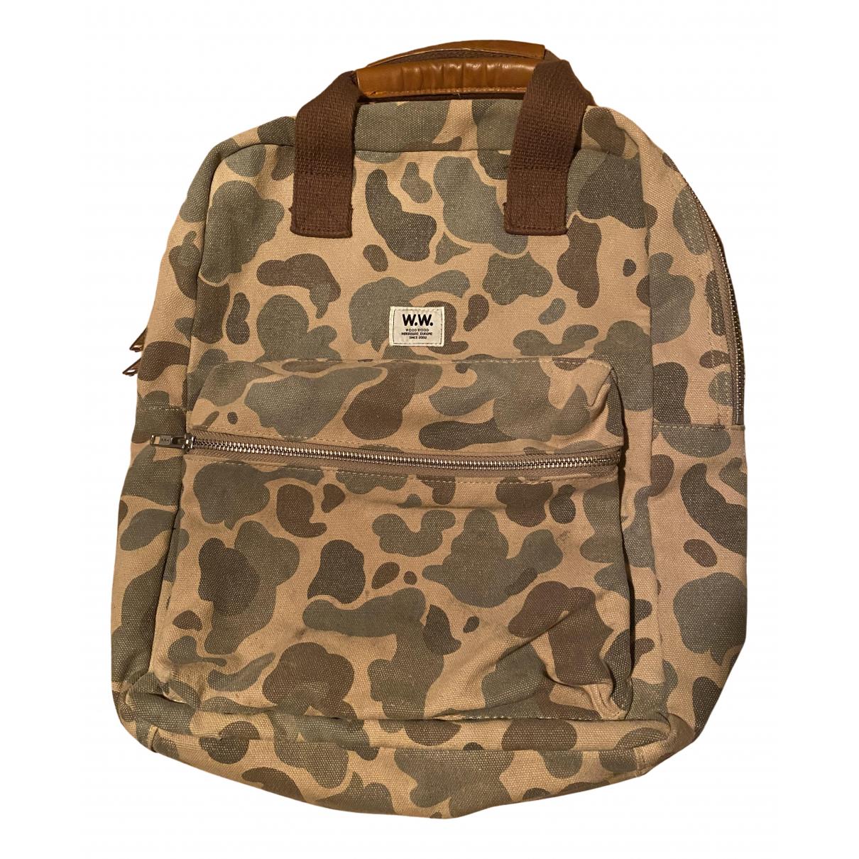 Wood Wood \N Khaki Denim - Jeans bag for Men \N