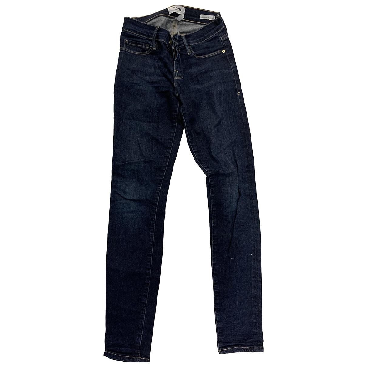 Frame Denim \N Blue Denim - Jeans Jeans for Women 32 FR