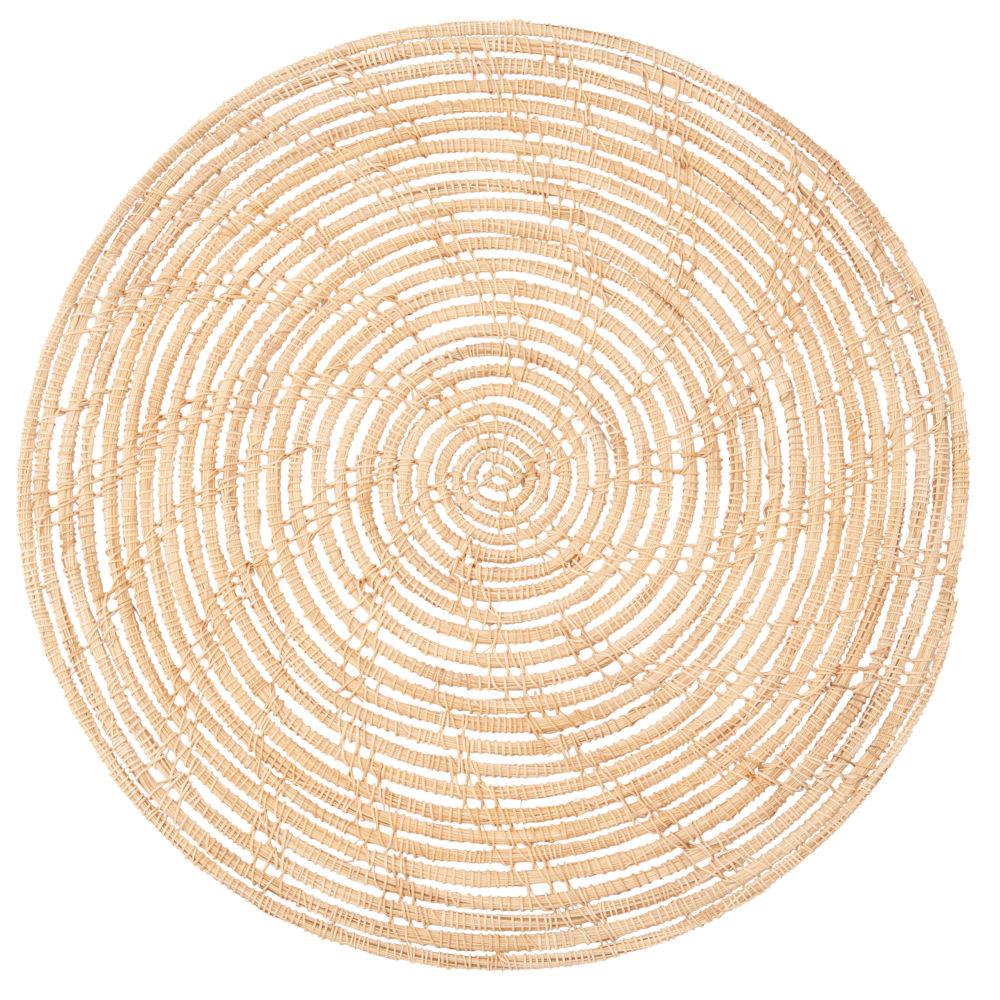 Rundes Tischset aus Pflanzenfasergeflecht