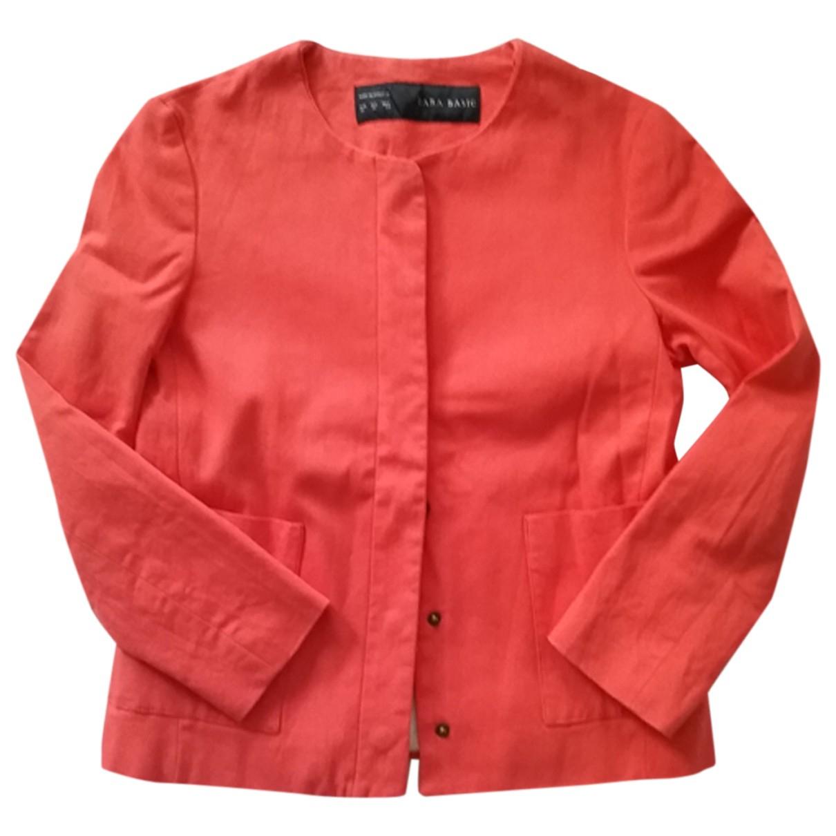 Zara - Veste   pour femme en coton