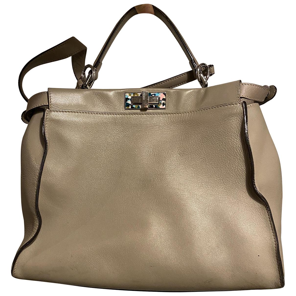 Fendi Peekaboo Beige Leather handbag for Women N