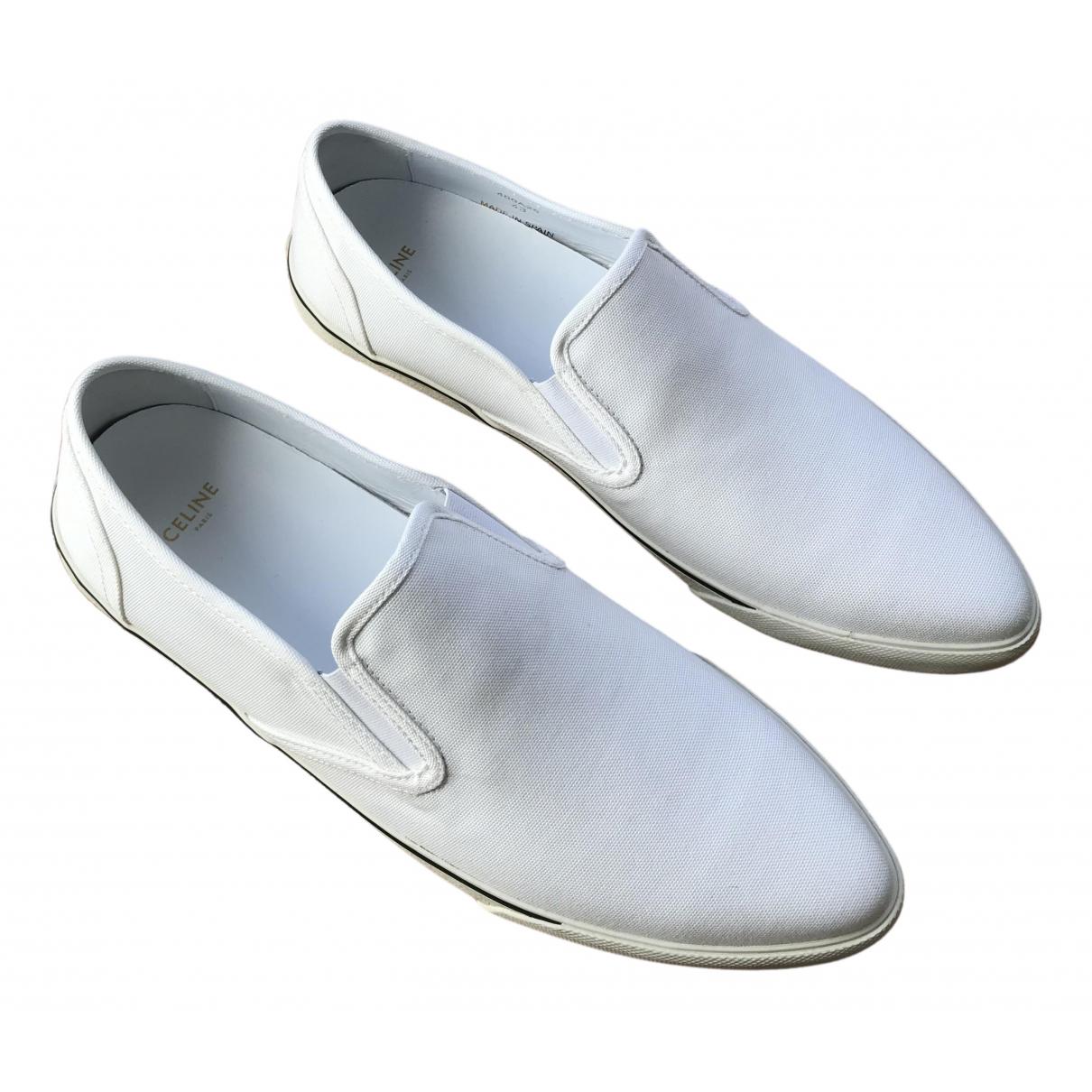 Celine - Espadrilles   pour homme en toile - blanc