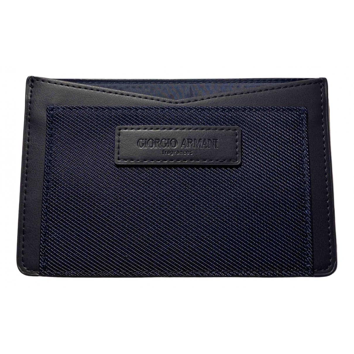 Giorgio Armani \N Black Cloth Purses, wallet & cases for Women \N