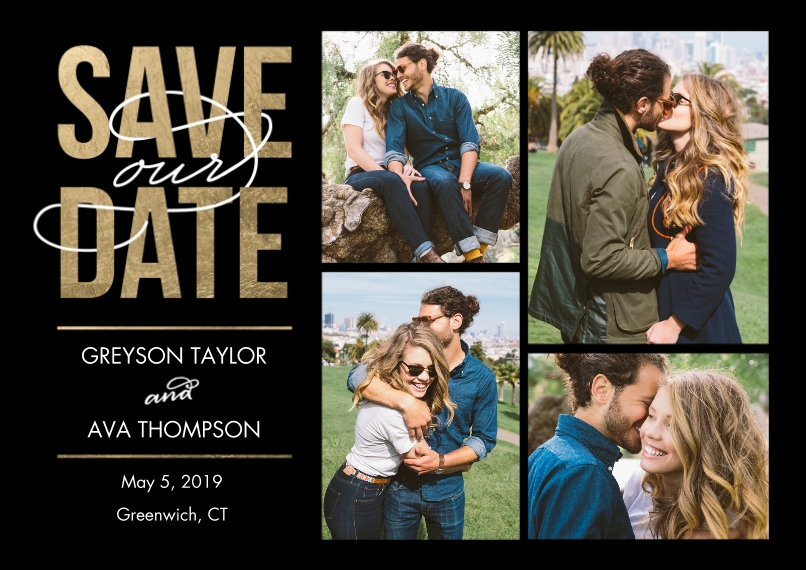Save the Date Flat Matte Photo Paper Cards with Envelopes, 5x7, Card & Stationery -Save Date Modern
