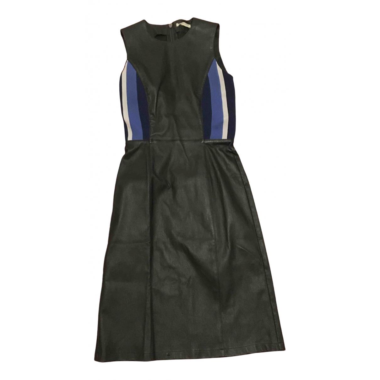 Bottega Veneta - Robe   pour femme en cuir - noir