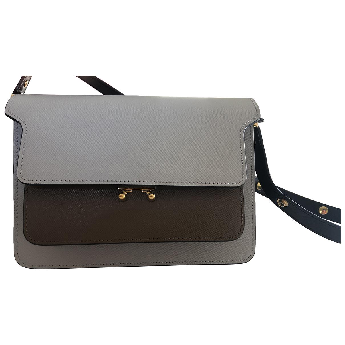 Marni Trunk Handtasche in  Bunt Leder