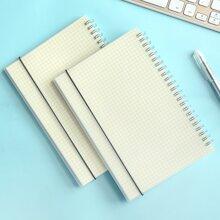 1pc Spiral Grid Notebook