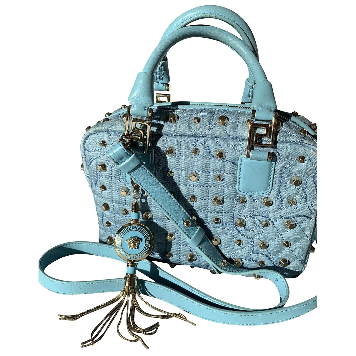 Versace \N Handtasche in  Tuerkis Leder
