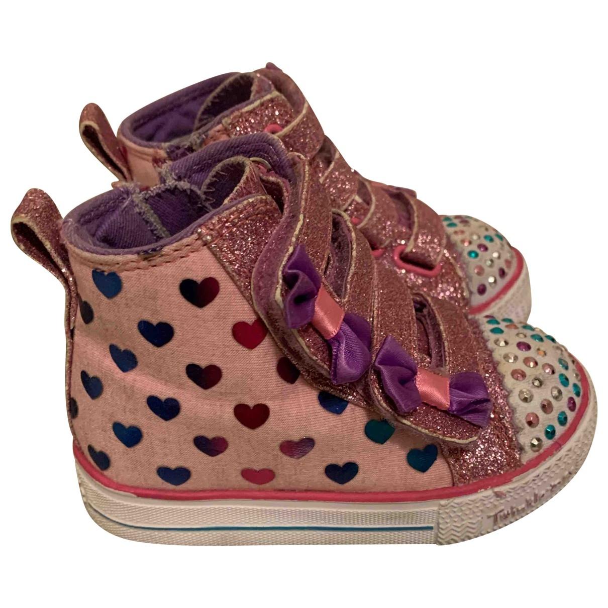 Skechers - Baskets   pour enfant - rose