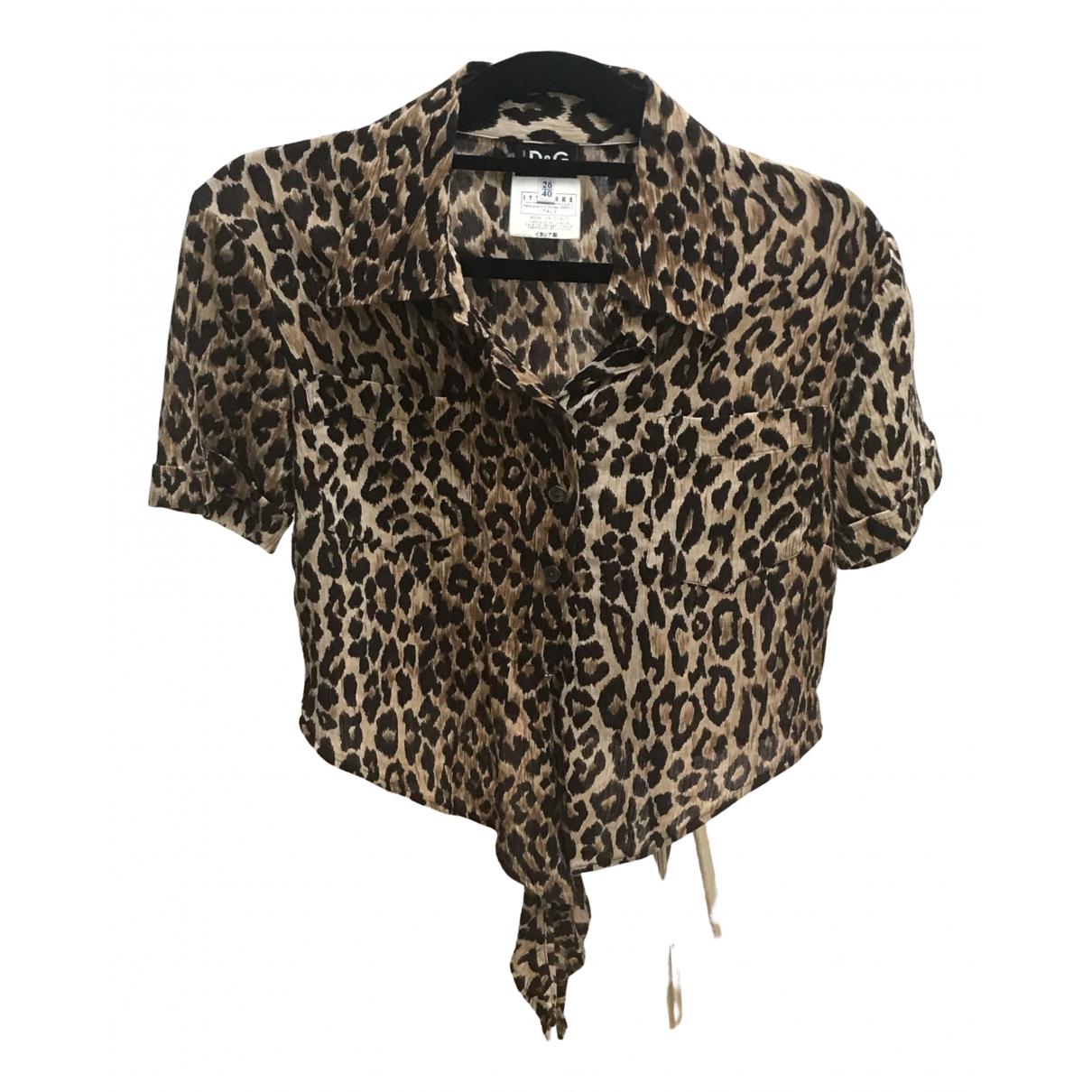 Dolce & Gabbana \N Brown Cotton  top for Women 40 IT
