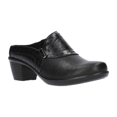 Easy Street Womens Cynthia Mules, 7 1/2 Wide, Black