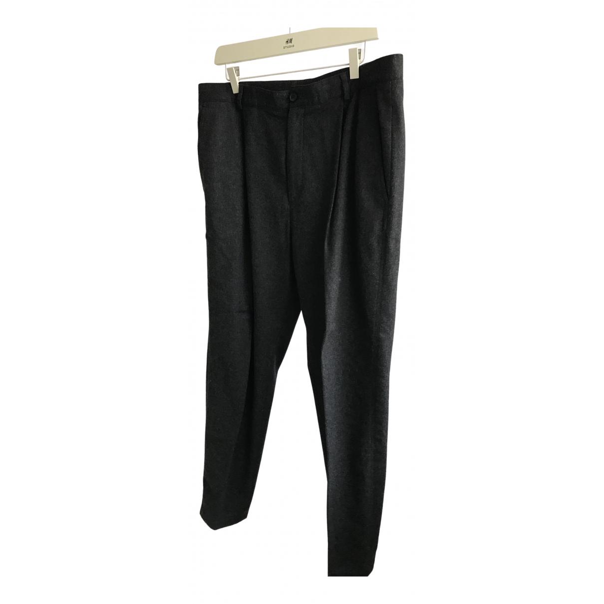 Cos N Grey Wool Trousers for Men 52 IT