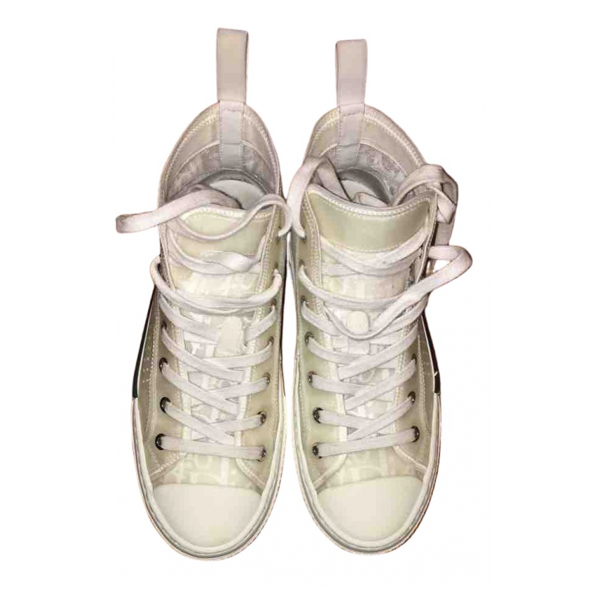 Dior B23 Sneakers in  Weiss Kautschuk