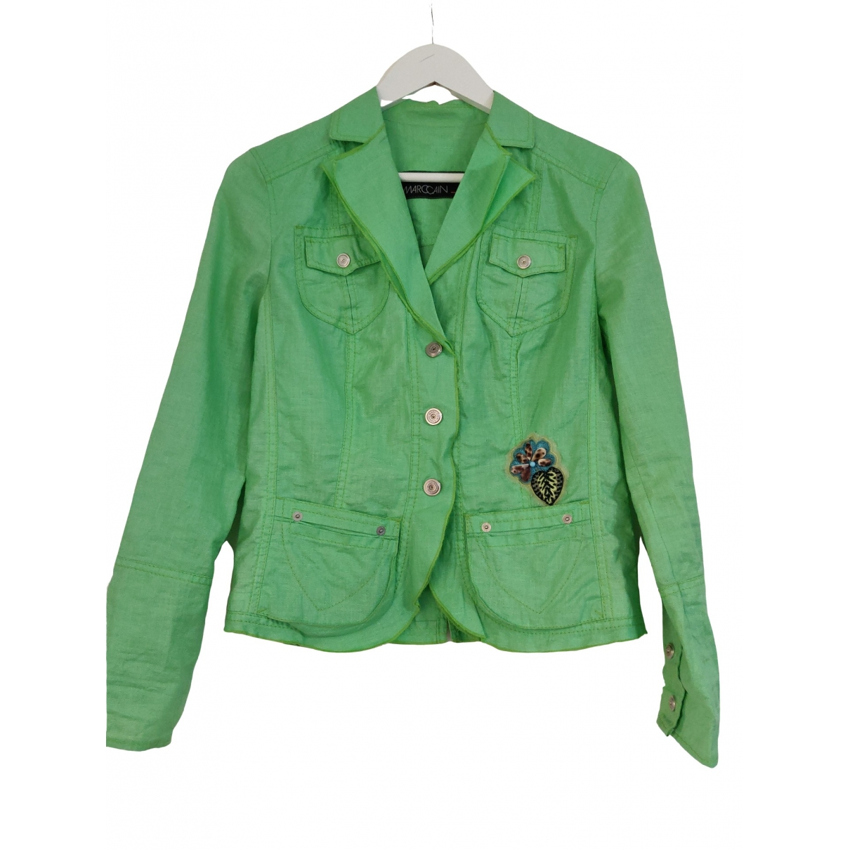 Marc Cain \N Green Linen jacket for Women S International
