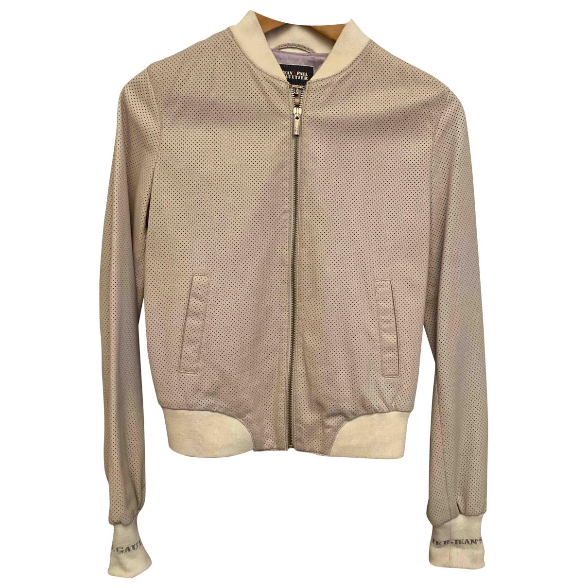 Jean Paul Gaultier \N Beige Leather jacket for Women 40 IT