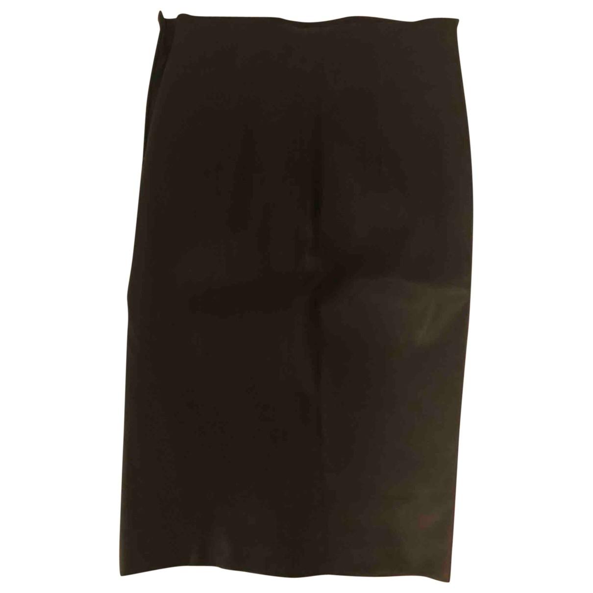 Brunello Cucinelli - Jupe   pour femme en cuir - noir