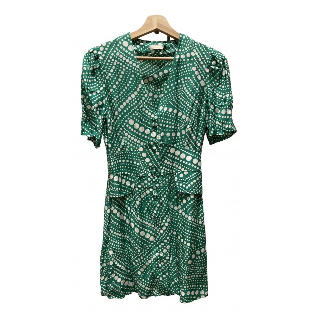 Rixo \N Kleid in  Gruen Baumwolle