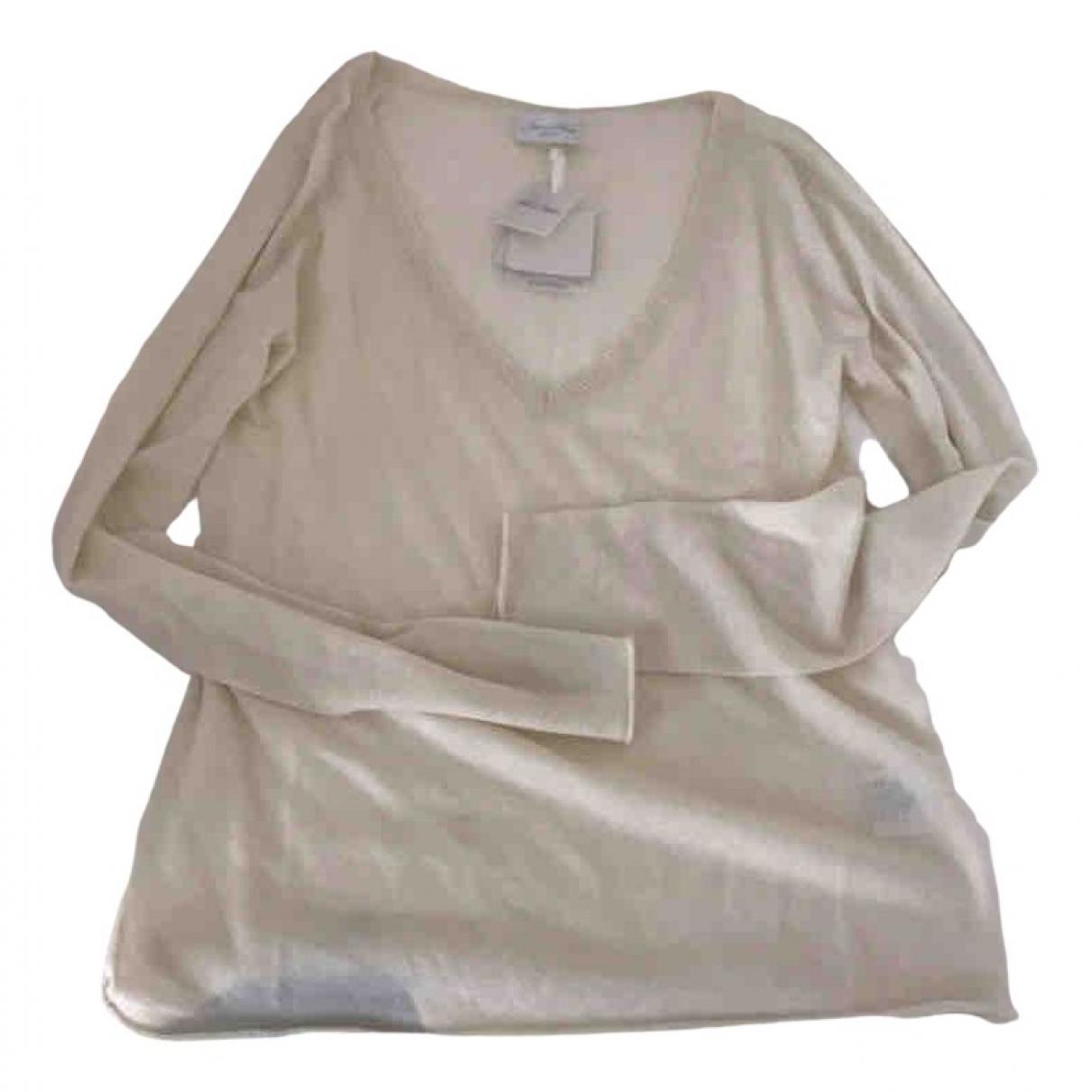 American Vintage - Pull   pour femme en cachemire - blanc
