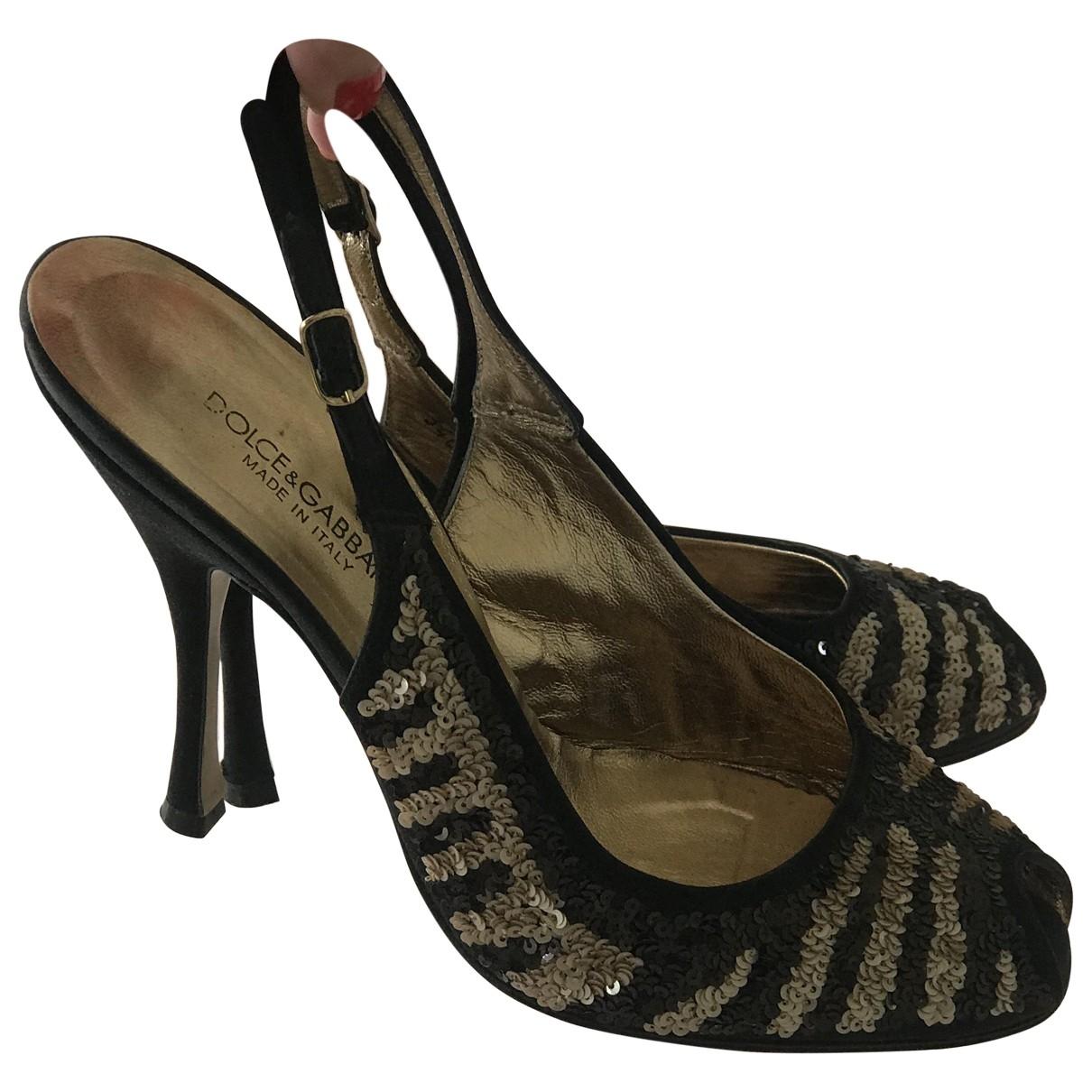 Dolce & Gabbana - Escarpins   pour femme en a paillettes - noir