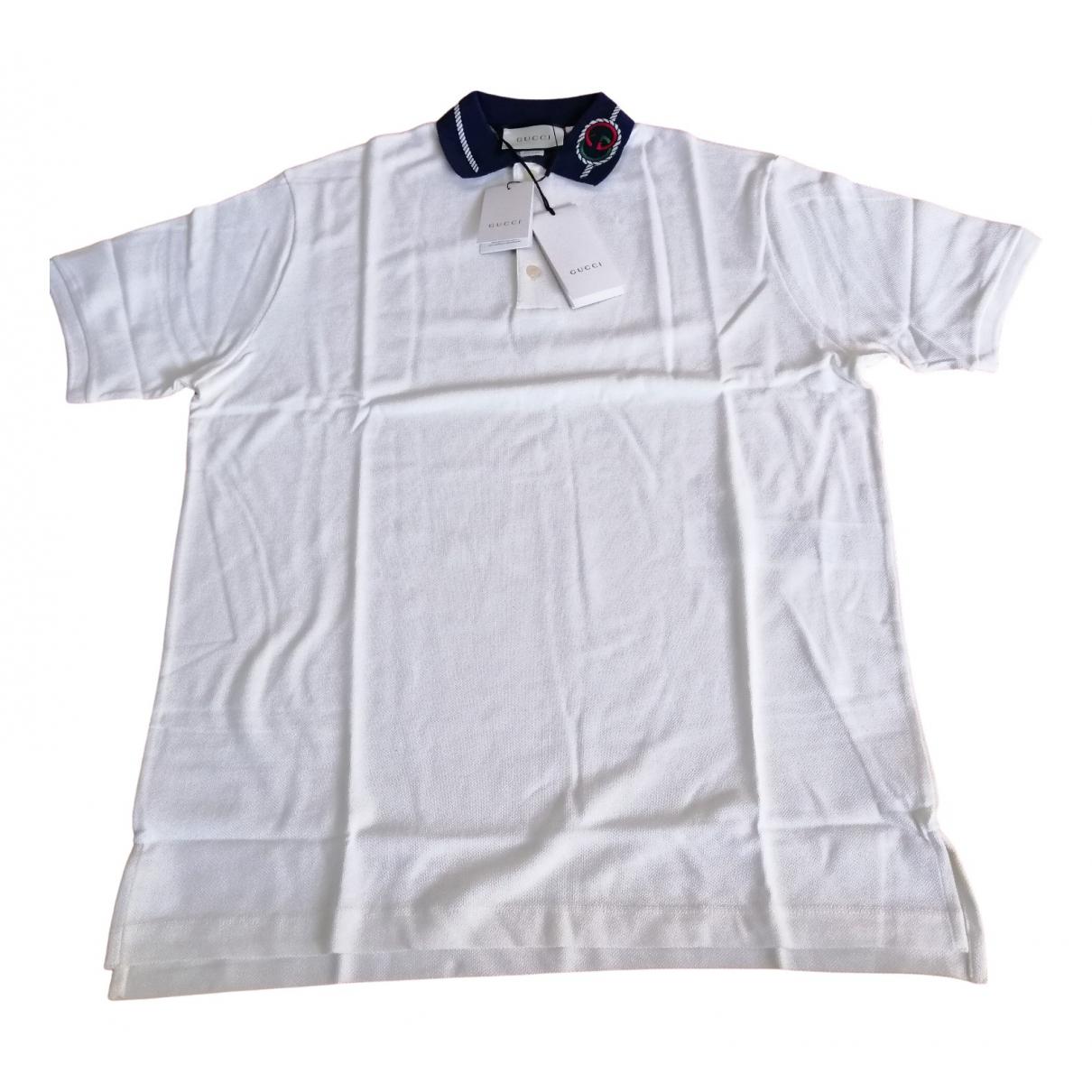 Gucci - Polos   pour homme en coton - blanc