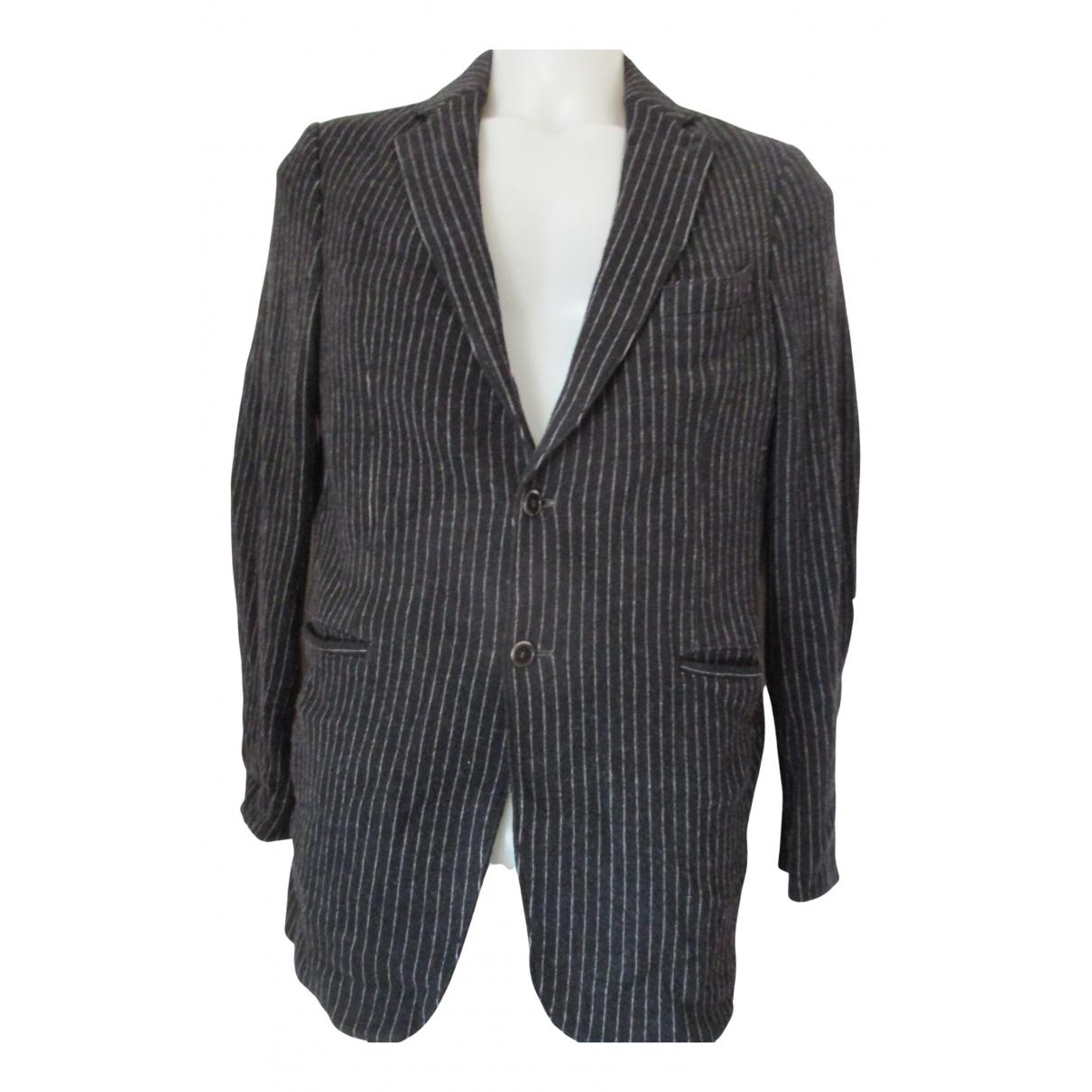 Armani Collezioni - Vestes.Blousons   pour homme en laine - bleu