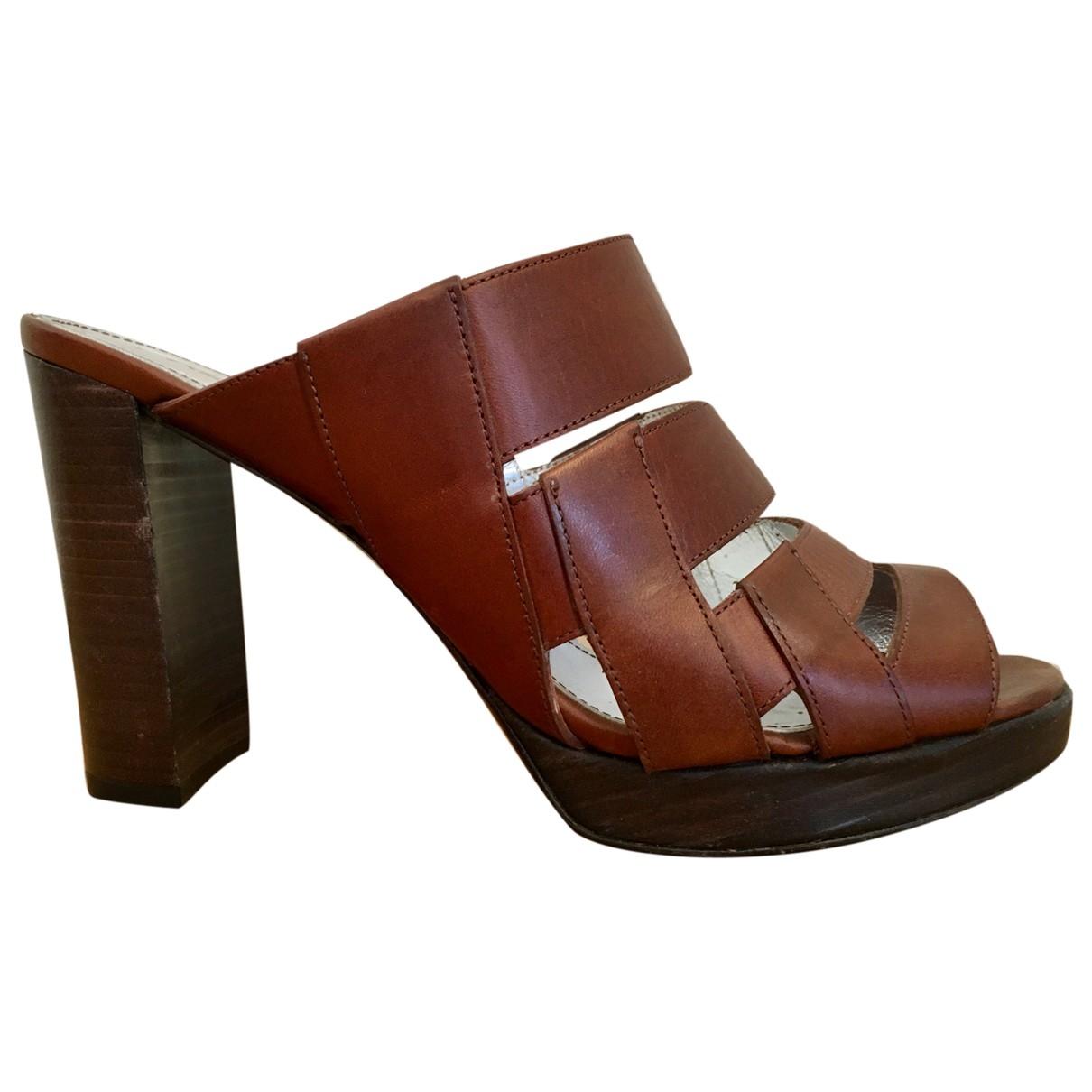 Free Lance - Sandales   pour femme en cuir - marron