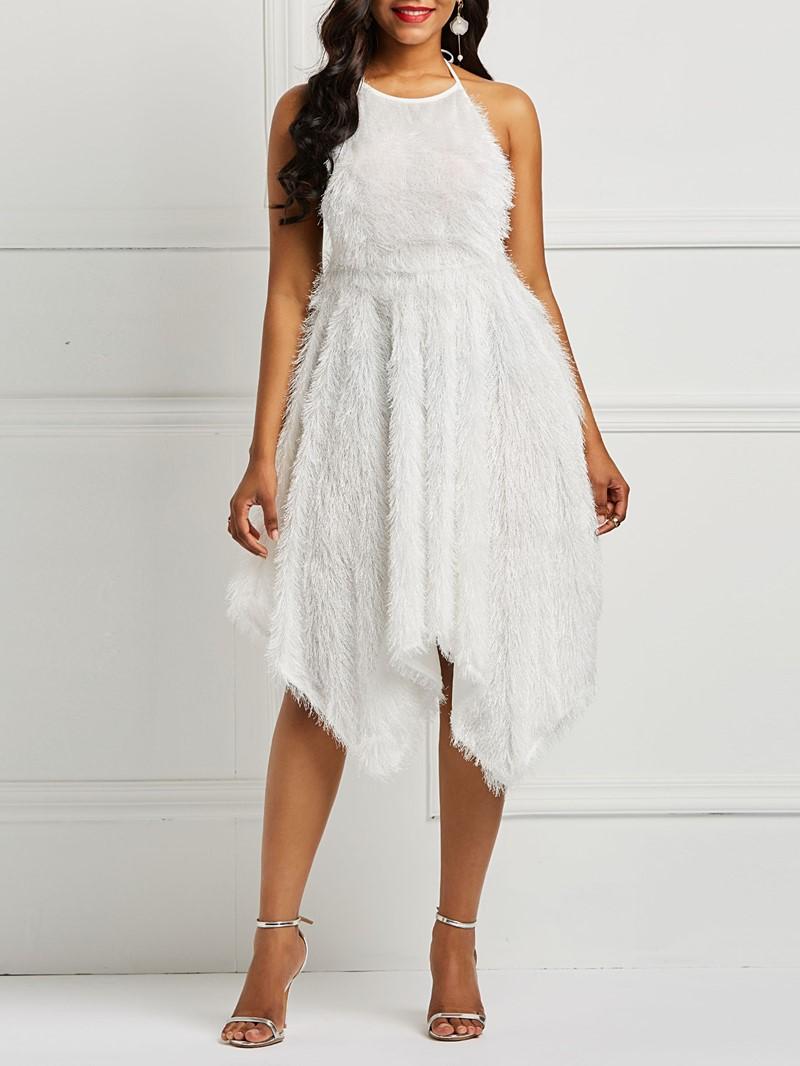 Ericdress Tassel Backless Asymmetrical Hem Women's Party Dresses
