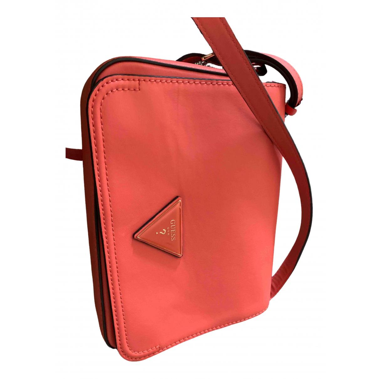 Guess \N Orange Leather handbag for Women \N
