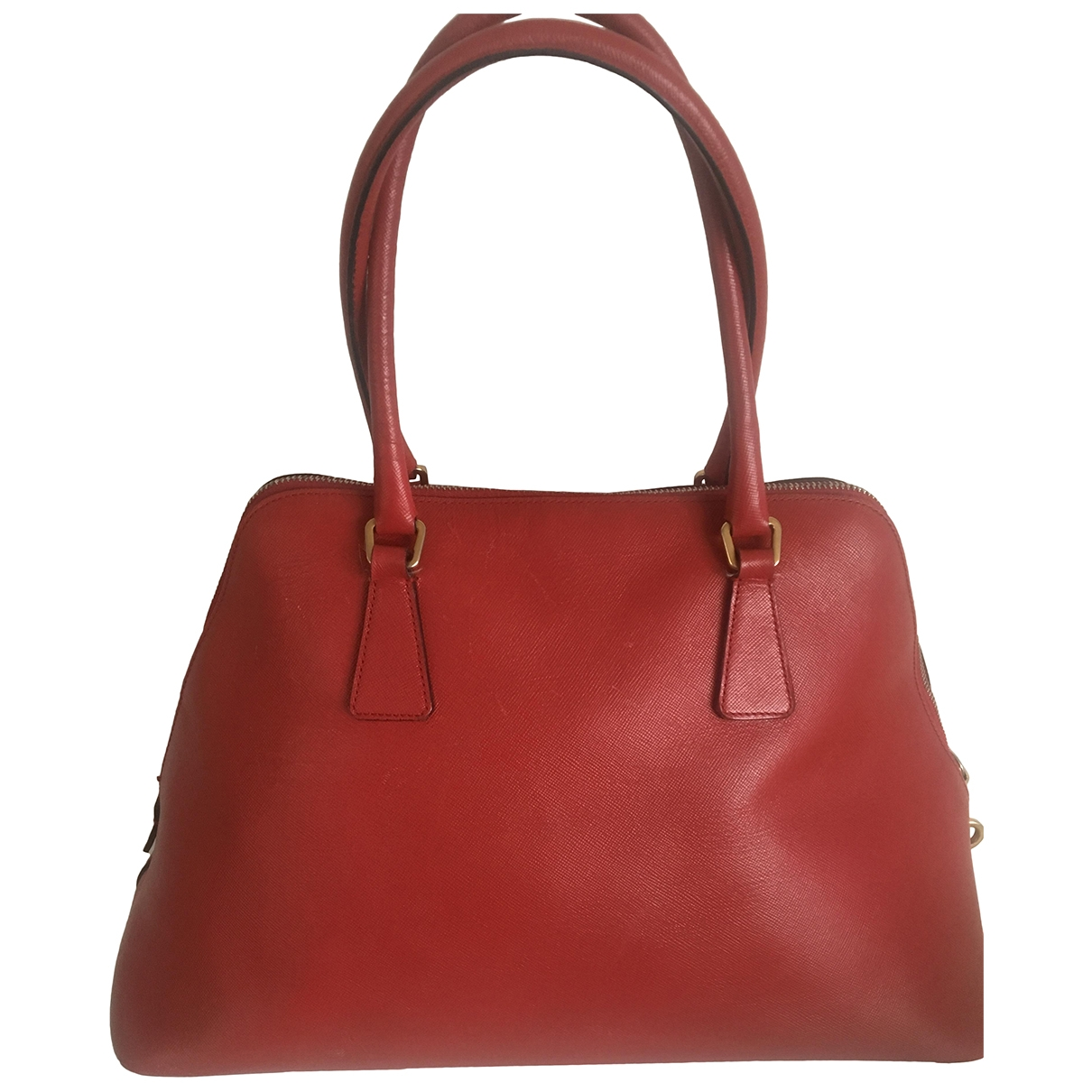 Prada Promenade Handtasche in  Rot Leder