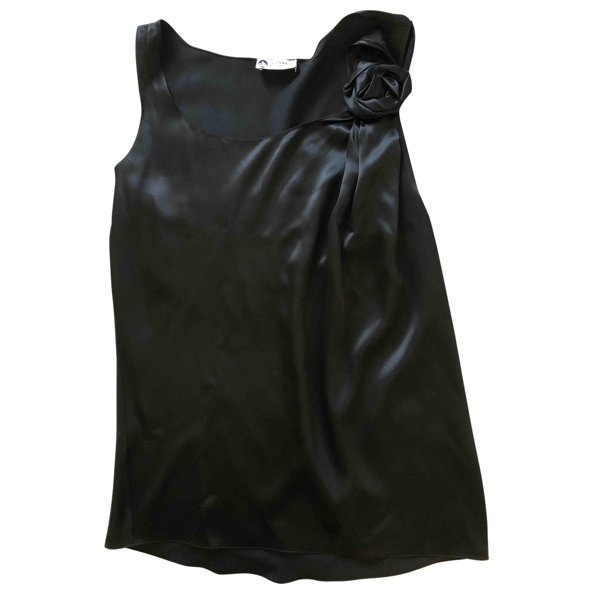 Lanvin \N Black Silk  top for Women 42 FR