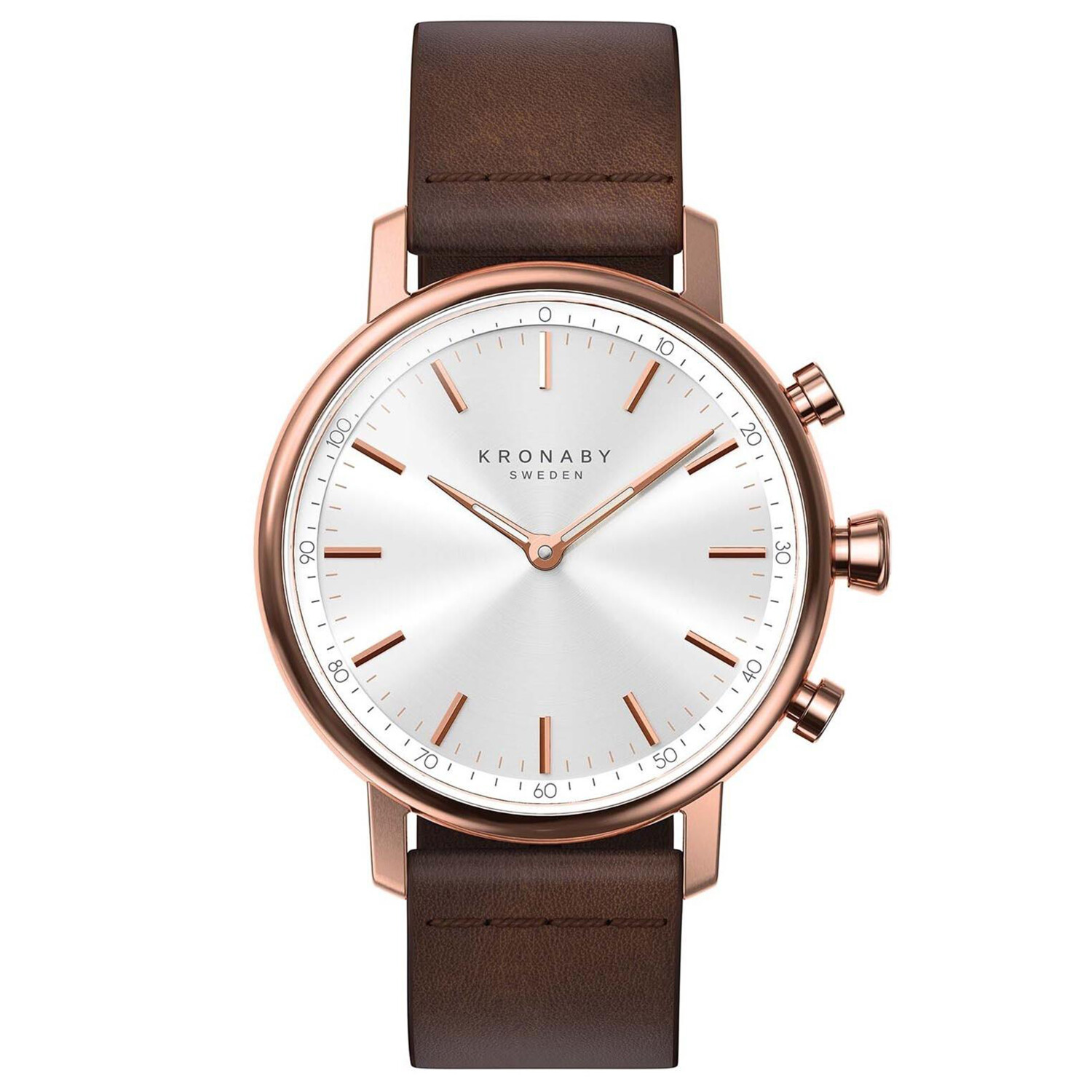 Kronaby Carat S1401-1 Brown Leather Automatic Self Wind Smart Watch