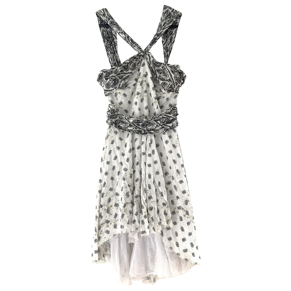 Pierre Balmain \N White Cotton dress for Women 38 IT