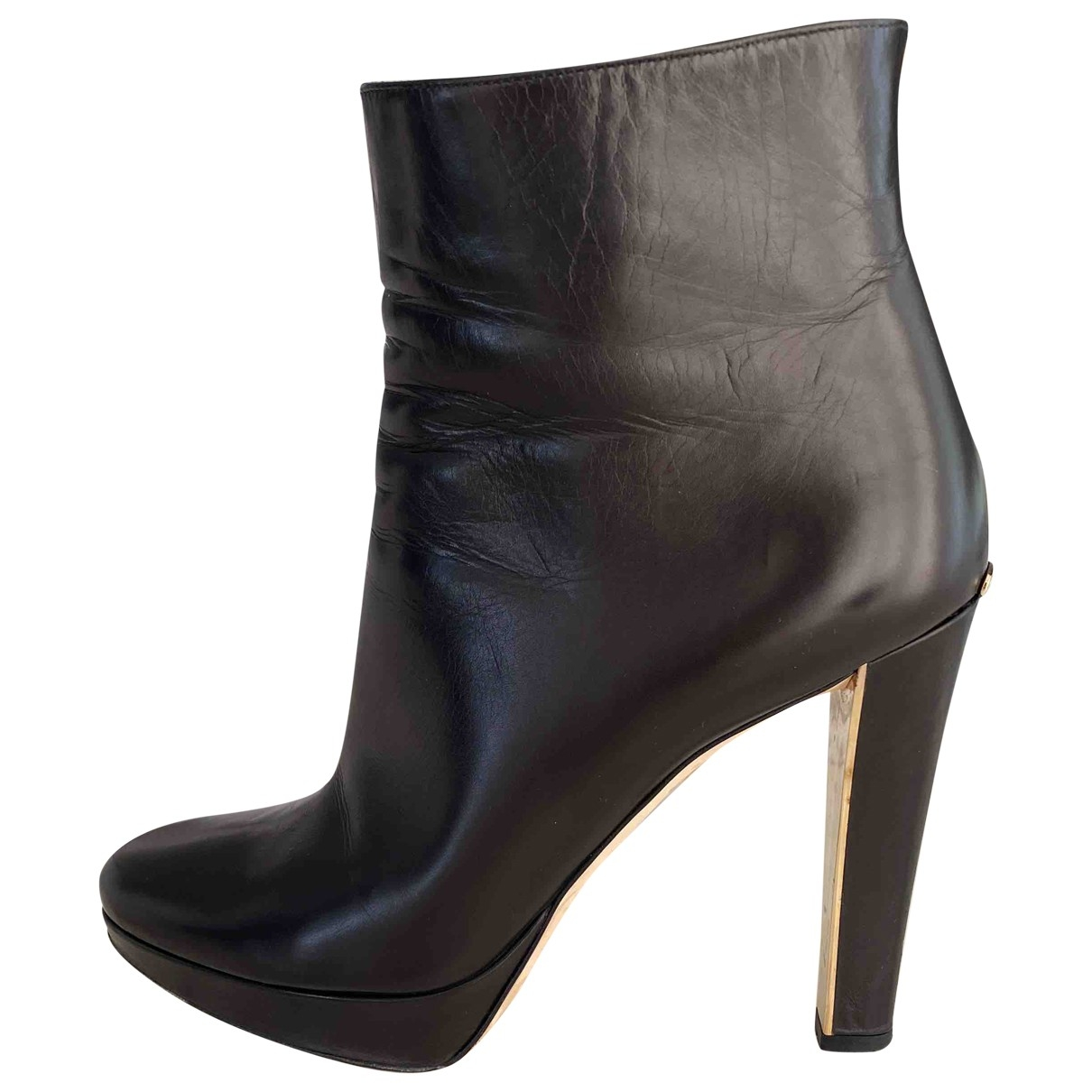 Dior \N Black Leather Ankle boots for Women 39 EU
