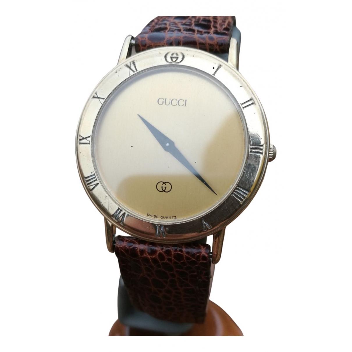 Gucci \N Uhr in  Braun Stahl