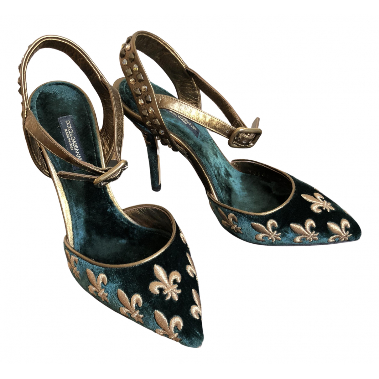 Dolce & Gabbana \N Green Velvet Heels for Women 35 IT