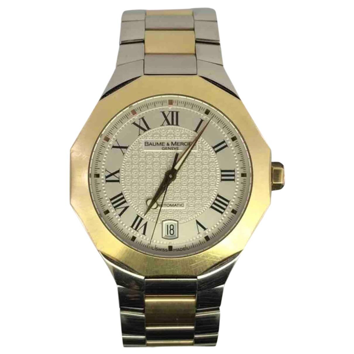 Baume Et Mercier Riviera Uhr in Gold und Stahl