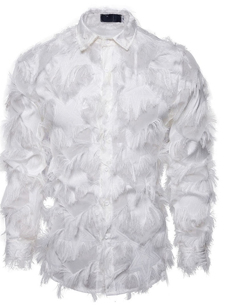 Ericdress Casual Tassel Geometric Men's Single-Breasted Shirt