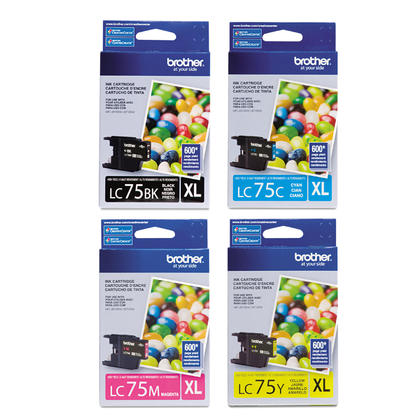 Brother MFC-J6510DW Original Ink Cartridges BK/C/M/Y Combo, 4 pack - High Yield