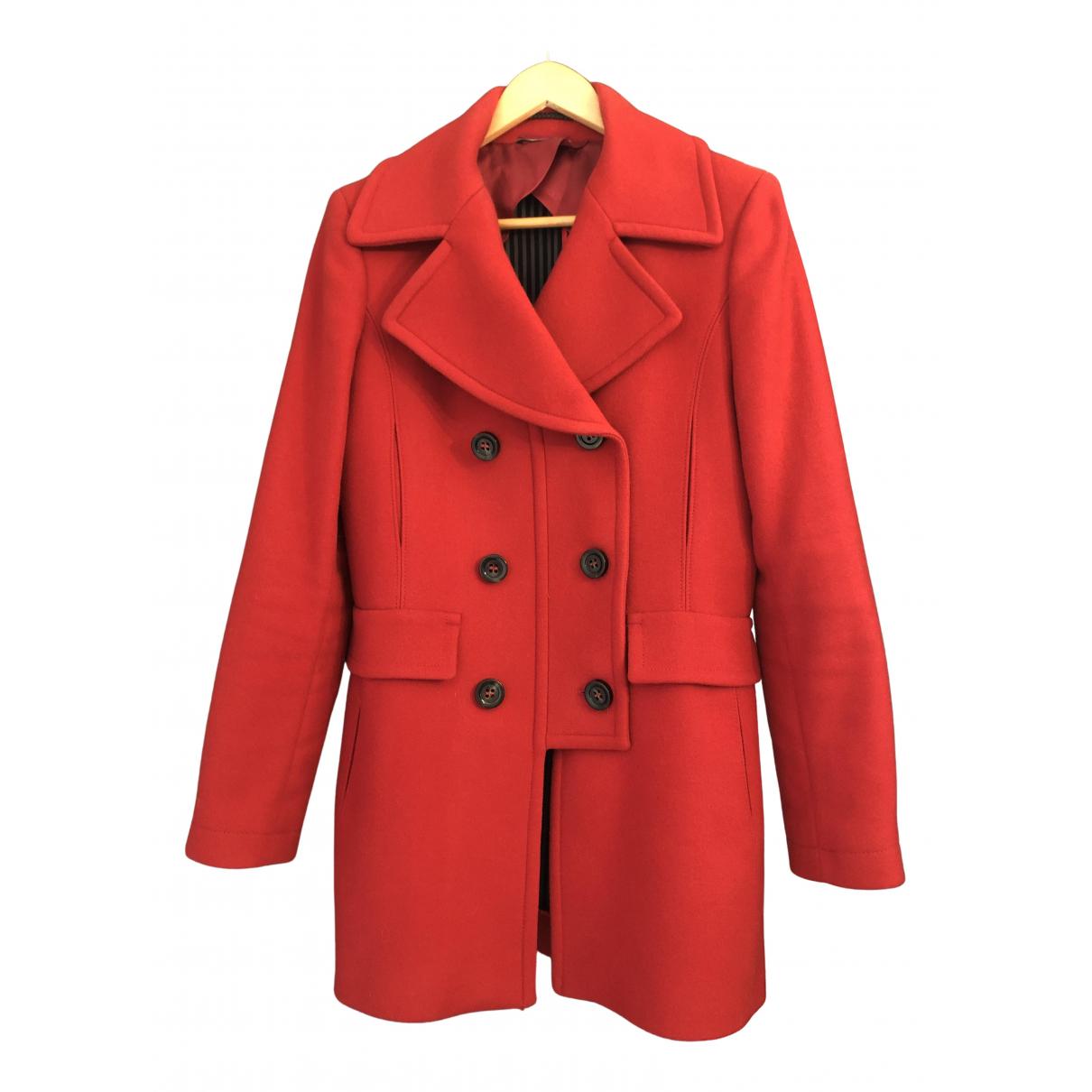 Sport Max - Manteau   pour femme en laine - rouge