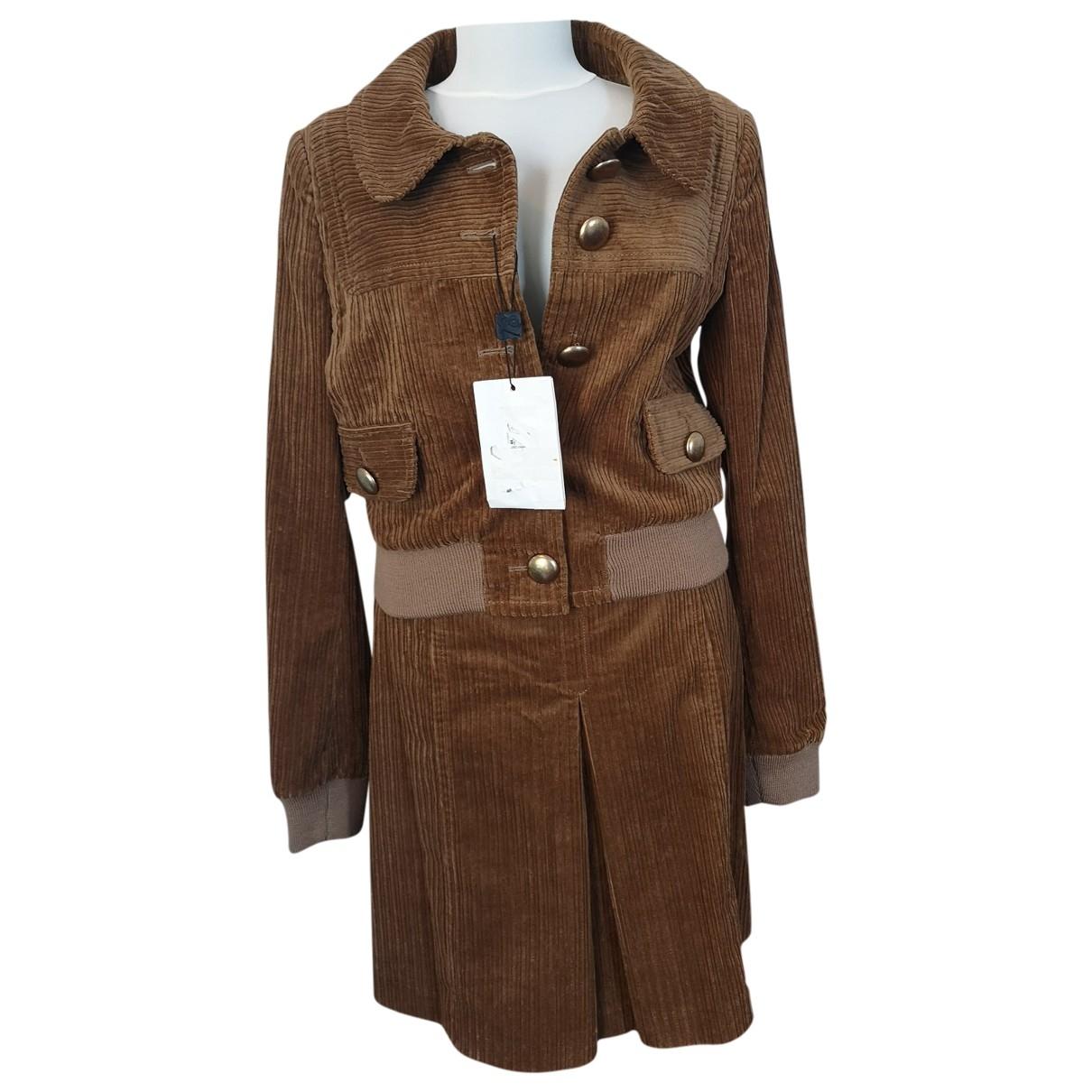 D&g \N Camel Cotton jacket for Women 44 IT
