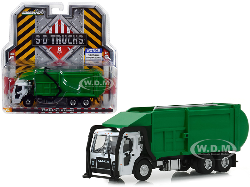 2019 Mack LR Refuse Garbage Truck White and Green