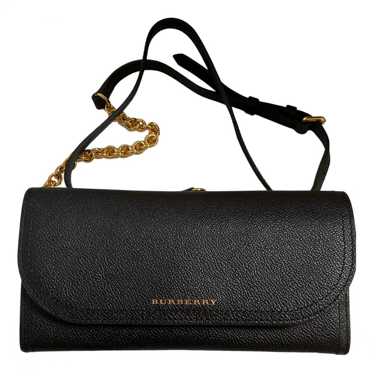 Burberry N Black Leather Clutch bag for Women N