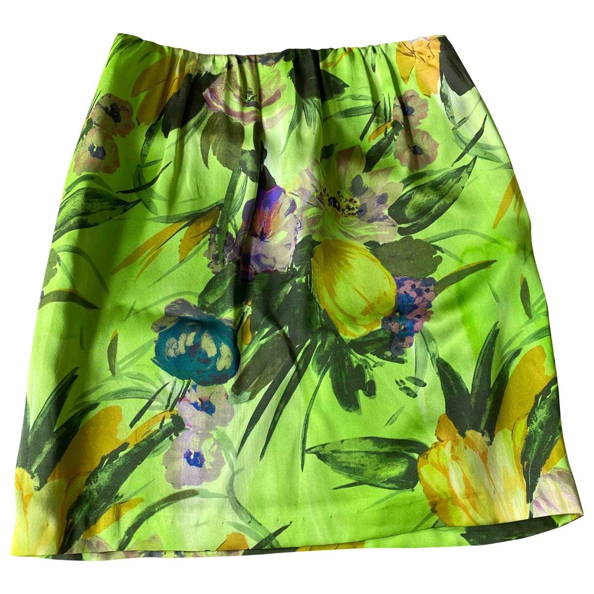Dries Van Noten - Jupe   pour femme en soie - multicolore